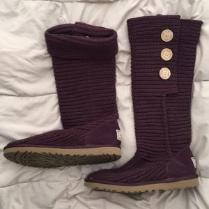 UGG plum Classic Cardy boot